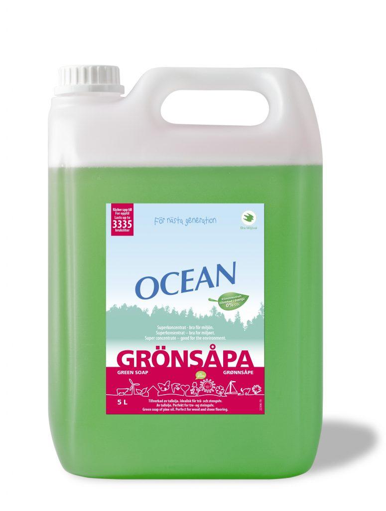 Grönsåpa ocean